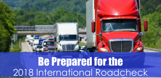 highway traffic with text be prepared for the 2018 international roadcheck