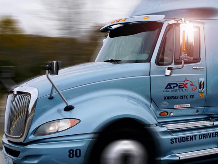 Apex truck driving