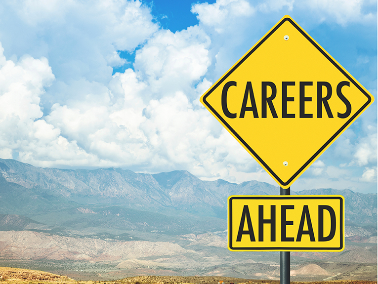 careers road sign