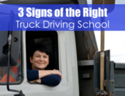 lady looking out of a white truck - 3 signs of the right truck driving school