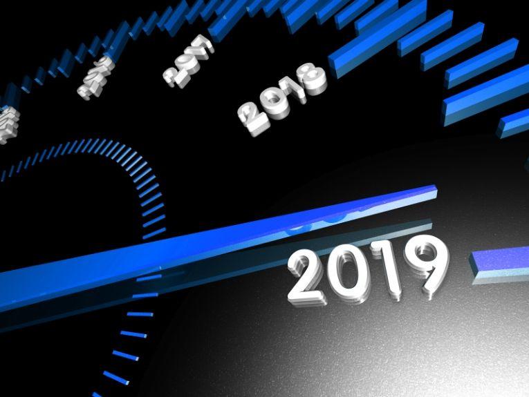 Speedometer with 2019