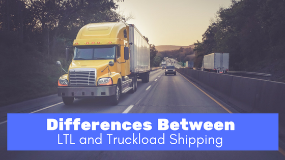 yellow semi truck on the highway - differences between LTL and truckload shipping