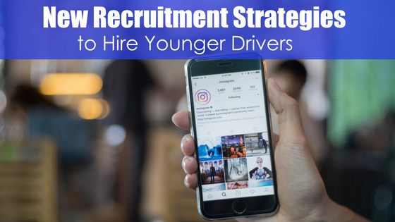 phone with instagram with test new recruitment strategies to hire younger drivers