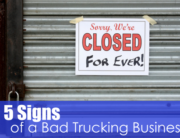 5 Signs of a Bad Trucking Business Image