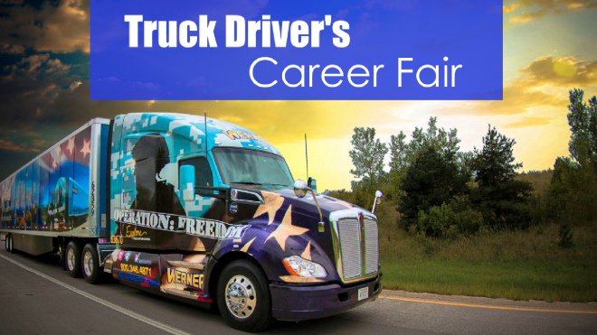 operation freedom rig with text truck driver's career fair