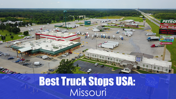 truck stop with text best truck stops USA: Missouri