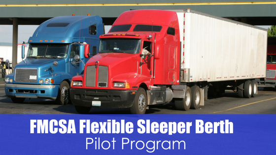 two semis with text FMCSA Flexible sleeper Berth pilot program